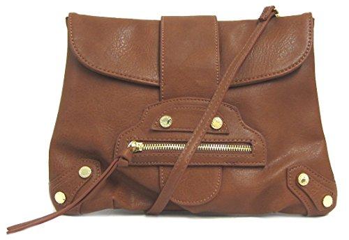 Steve Madden Bladdie Convertible Clutch Crossbody Bag, Cognac