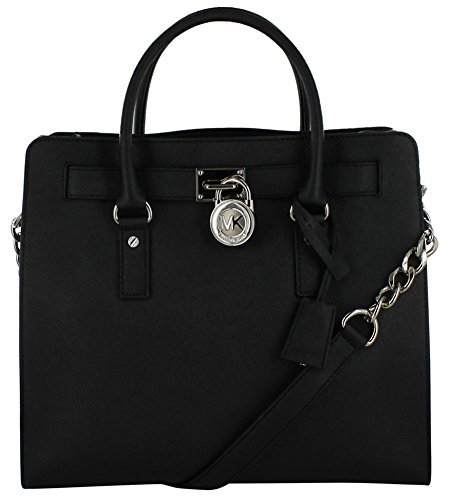 Michael Kors Large Hamilton Saffiano Tote Women's Handbag Purse Black