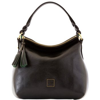 Dooney & Bourke Florentine Twist Strap Hobo Shoulder Bag Black