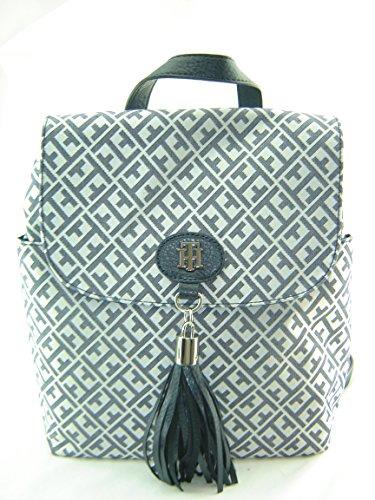 Tommy Hilfiger Mini Backpack Handbag Purse Navy Blue Creme Multi
