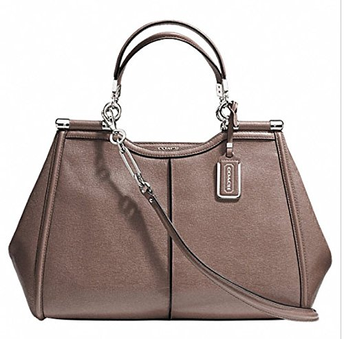 Coach Madison Caroline Ash Leather Satchel Handbag 25245 in Ash
