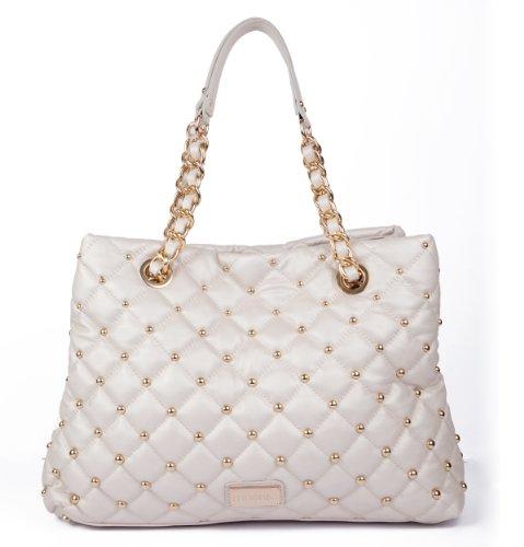 Scarlet Shoulder Bag – Luminous Pearl – Handbags – Shoulder Bags for Women – Designer Fashion Bag
