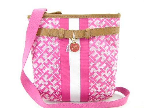 Tommy Hilfiger Small Xbody Crossbody Handbag Purse Pink Multi