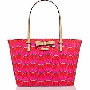 Kate Spade South Poplar Street Francis Tote Handbag- Maraschino Painterly Wave