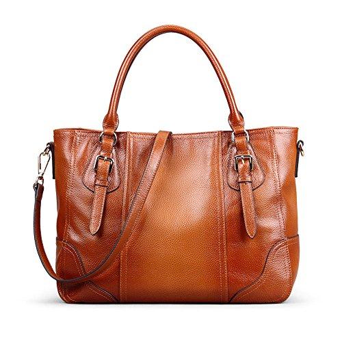 Kattee Vintage Genuine Soft Leather Shoulder Handbag