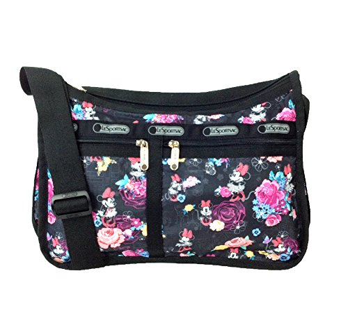 LeSportsac Disney Minnie Mouse Deluxe Everyday Bag, Minnie's Floral Park