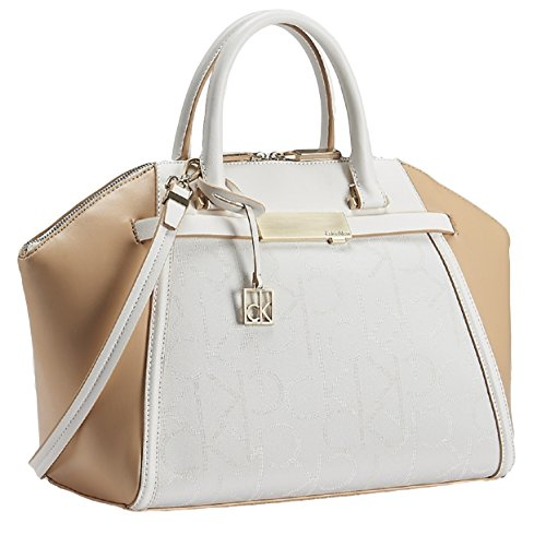 Calvin Klein Addie Dome Satchel Bag Handbag (Bare)