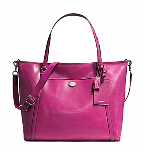 Coach Peyton XL Saffiano Leather Tote Bag 77606 Raspberry
