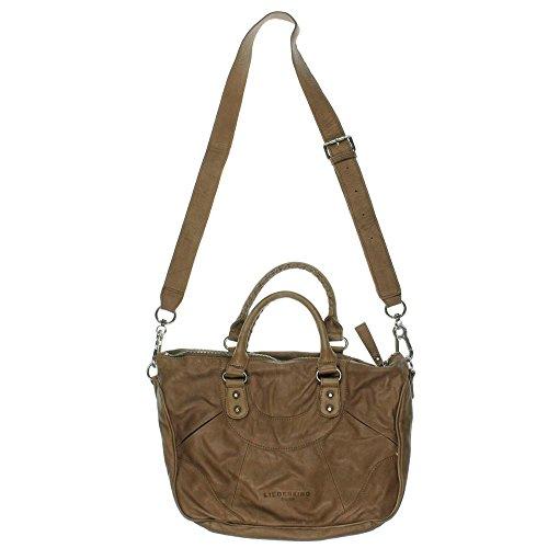 Liebeskind Womens Leather Convertible Satchel Handbag