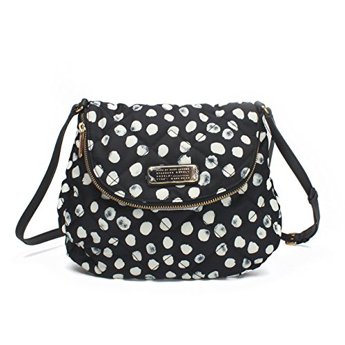 Marc by Marc Jacobs Crosby Quilted Nylon Dee-Lite Dot Natasha Crossbody, Black Multi