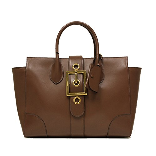 Gucci Lady Buckle Large Dark Mauve Leather Tote Handbag Medium 323652