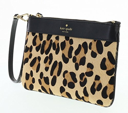 Kate Spade Lolly Hudson Street Haircalf Wristlet in Leapord