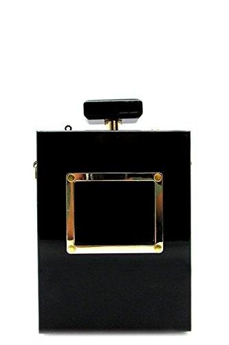 Fashion Handbag Purse Bag Designer Perfume Bottle Clutch Black