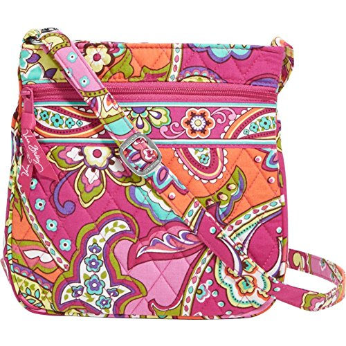 Vera Bradley Petite Double Zip Hipster (Pink Swirls)