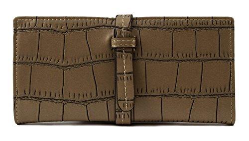 Scarleton Croc-Embossed Drawstring Wallet H3321
