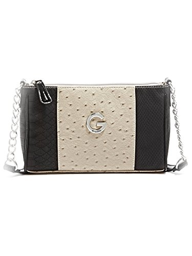 G by GUESS Women's Katarin Ostrich-Embossed Cross-Body Bag