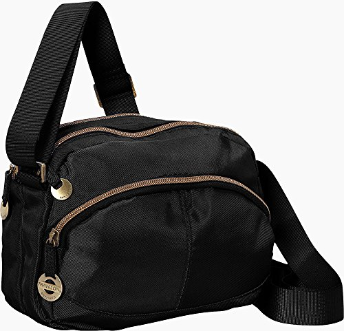 Travelon Twill Crossbody with RFID Protection Black