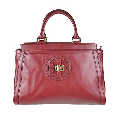 Tory Burch Gloria Satchel Dark Cherry