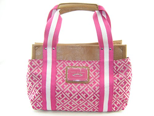Tommy Hilfiger Small Iconic Satchel Handbag Pink Multi