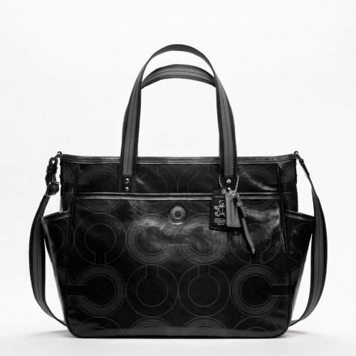 Coach Baby Bag Stitched Patent Tote – 19911