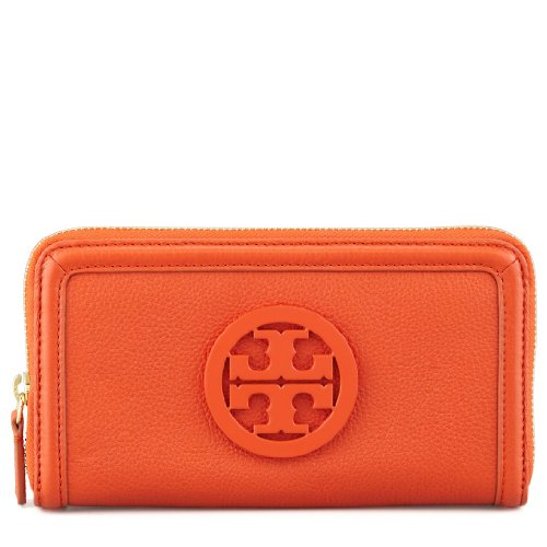 Tory Burch Womens Amanda Zip Continental Wallet, Blood Orange, One Size