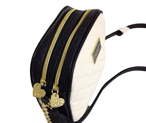 Betsey Johnson Double Entry Cross Body Be Mine Bone Hand Bag