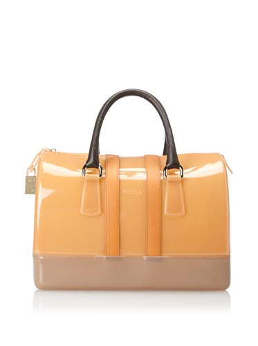 FURLA CANDY MEDIUM SATCHEL APRICOT VITAMINE