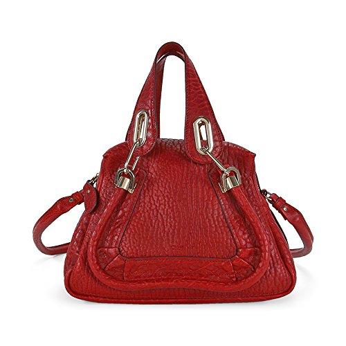Chloe Paraty Small Leather Satchel Handbag – Acerola