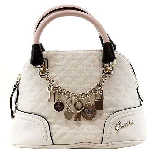 Guess Women's Rakelle White Multi Dome Satchel Handbag