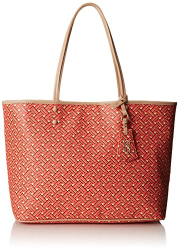 Cole Haan Signature Weave Tote, Coral Flame, One Size