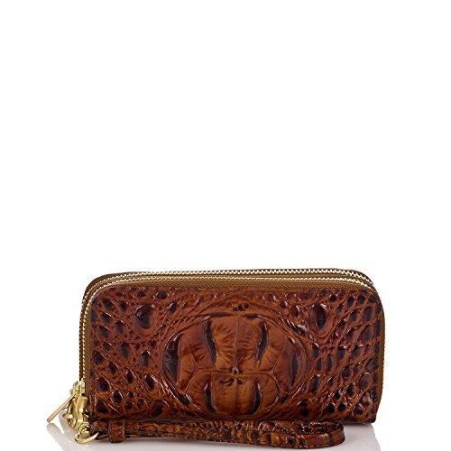 Brahmin Zoe Leather Double Zip Wallet Pecan Melbourne