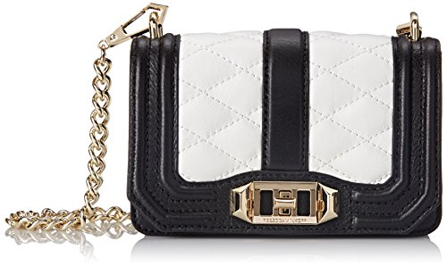 Rebecca Minkoff Mini Love Cross Body Bag, Black/White, One Size