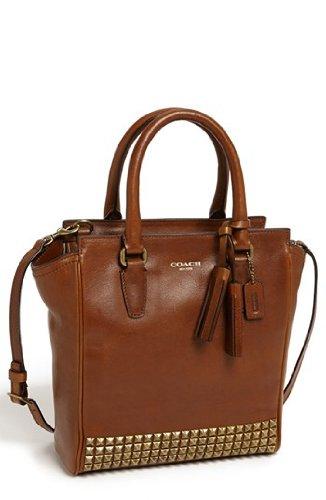 Coach Legacy Studded Mini Tanner Saddle Brown Leather Crossbody Handbag