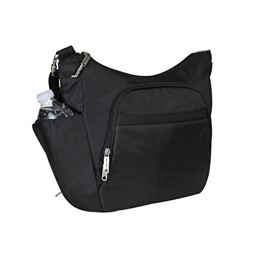 Travelon Anti-theft Classic Cross-body Bucket Bag Black