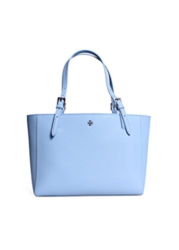 Tory Burch Small York Buckle Tote in Fairview Blue