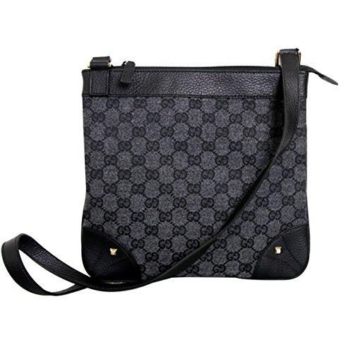 Gucci Canvas Gray Cross Body Messenger Bag Sling Bag 272396