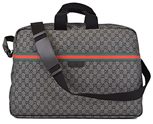 Gucci 374769 Gg Logo Black Green Red Web Duffle Bag Carry-on Travel Overnight Bag