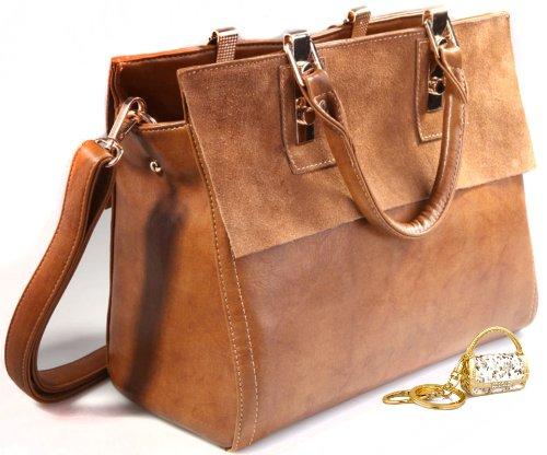 JiYe Womens Retro Leather Leisure Hangbag Shoulder Bag