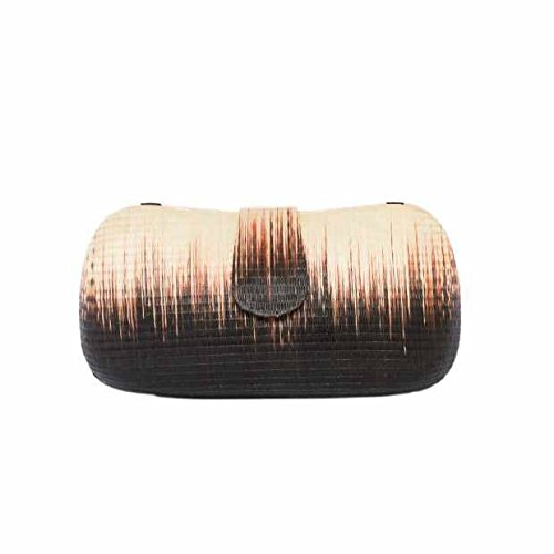 Jay Michaels Bianca Vegan Latte/Chocolate Buntal Handbag