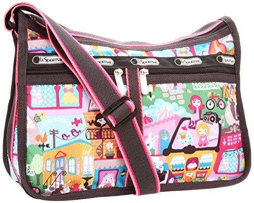 LeSportsac Deluxe Everyday Bag Satchel, Around Town Design