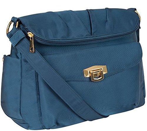 Travelon Pleated Flapover Bag Ocean