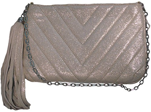 Eric Javits Women's 'Mimi' Quilted Clutch in Silver