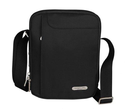 Travelon 3 Compartment Expandable Shoulder Bag – Black