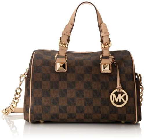 MICHAEL Michael Kors Grayson Medium Chain Satchel in Brown