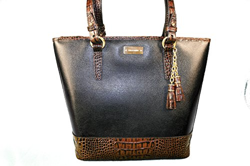 Brahmin Asher Tote in Black Tuscan