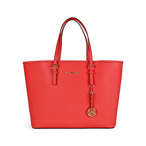 Michael Kors Jet Set Medium Travel Tote Watermelon/Gold
