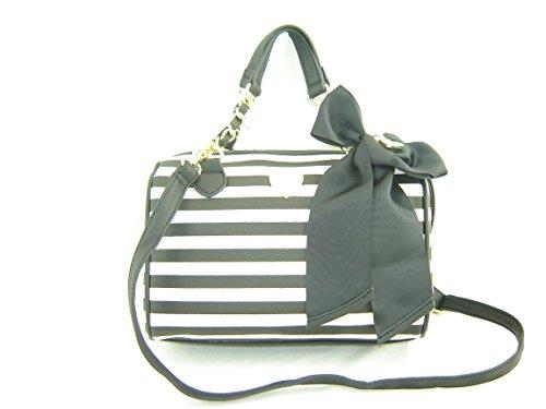 Betsey Johnson Candy Stripe Medium Speedy Handbag Multi