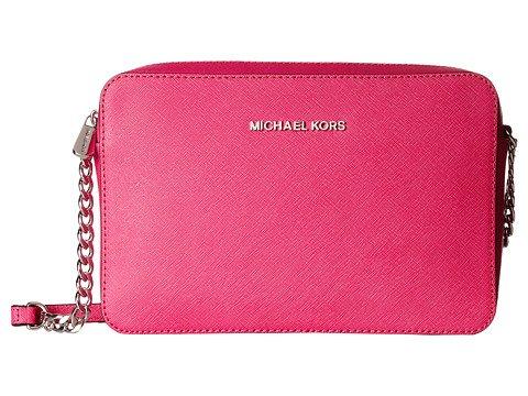 Michael Kors Jet Set Travel Large Crossbody Handbag – Raspberry