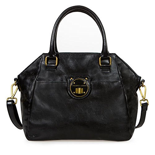 Elliott Lucca Leather Satchel Black