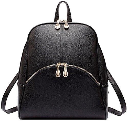 Heshe Candy Color Soft Pu Leather Hot Sell Summer Women's Backpack School Daypack Preppy Handbag Multi-purpose Lightweight Shoulder Bag